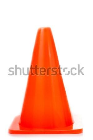 Orange Traffic cones isolate  Stock photo © hin255