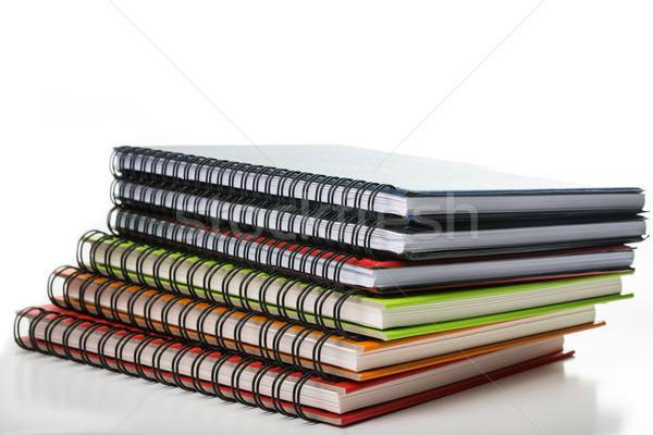 Többszörös szín jegyzet könyv izolált fehér Stock fotó © hin255