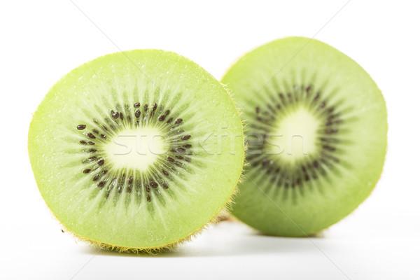Kiwi suco fruto isolado branco comida Foto stock © hin255