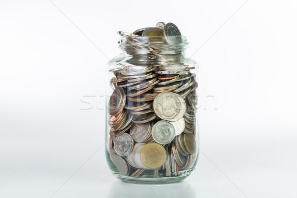 Stockfoto: Besparing · geld · fles · cash · toekomst · investering