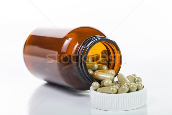 錠剤 薬物 コンテナ 孤立した 白 背景 ストックフォト © hin255