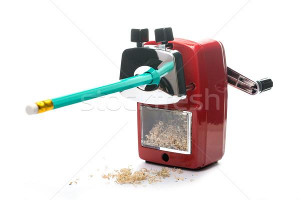 Metal farbują temperówka czerwony kolor odizolowany Zdjęcia stock © hin255