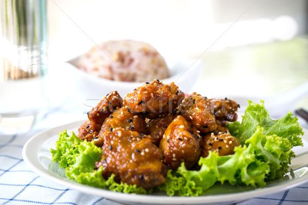 ごま 鶏 照り焼き レシピ 全体 穀物 ストックフォト © hin255