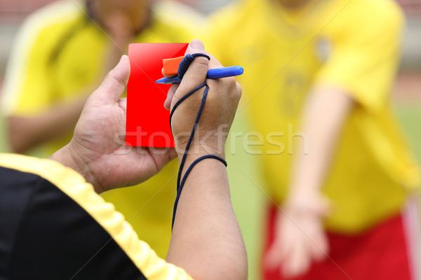 Referee soccer recorded player foul  Stock photo © hin255