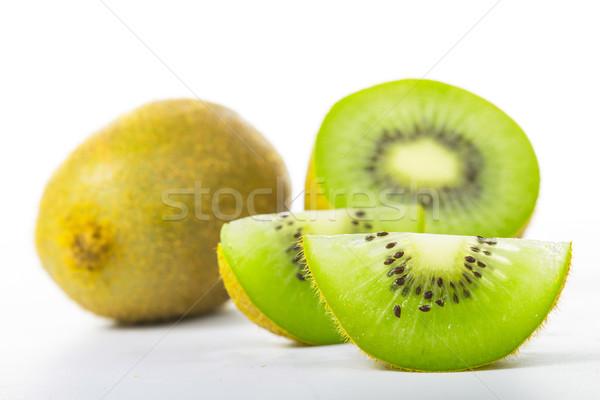 Kiwi suco fruto isolado branco natureza Foto stock © hin255
