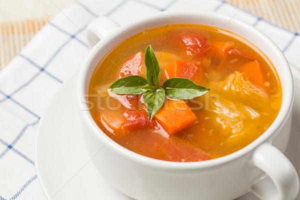 野菜スープ トマト ジャガイモ ニンジン 食品 プレート ストックフォト © hin255
