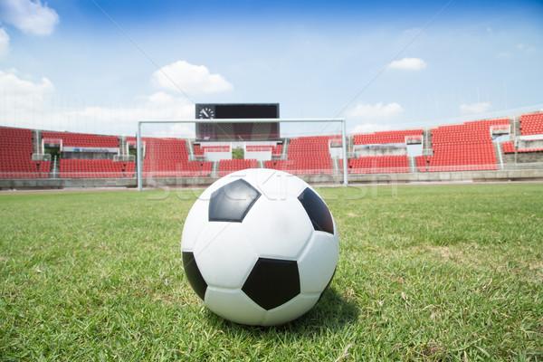Futebol meta grama esportes futebol campo Foto stock © hin255