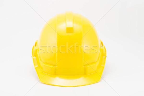 黄色 安全 帽子 白 作業 背景 ストックフォト © hin255