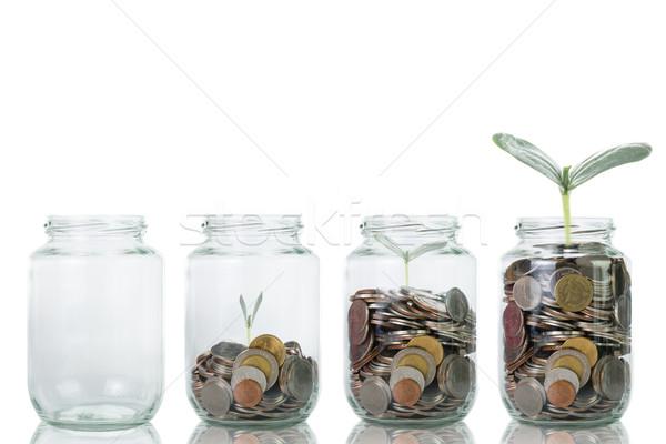 成長 工場 ステップ コイン 投資 今日 ストックフォト © hin255