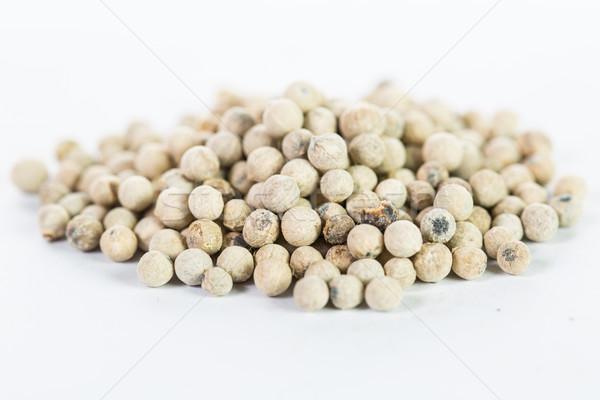 Branco pimenta isolado madeira cozinhar refeição Foto stock © hin255