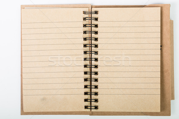 ブラウン 図書 白紙 ビジネス 紙 ノートブック ストックフォト © hin255