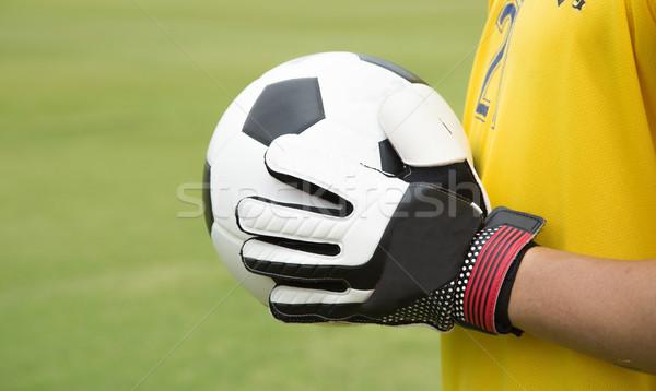 вратарь используемый рук мяча матча игры Сток-фото © hin255