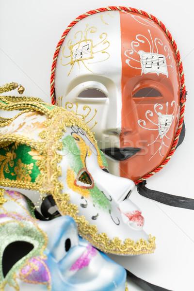 Kleurrijk drama masker geïsoleerd witte abstract Stockfoto © hin255