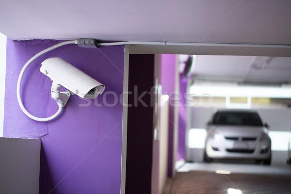 Cctv verificar parede tecnologia fundo segurança Foto stock © hin255
