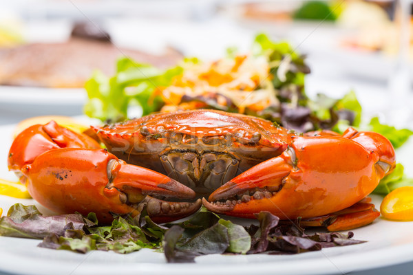 Singapour chili boue crabe restaurant mer Photo stock © hin255