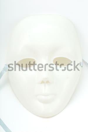 Branco drama máscara isolado abstrato fundo Foto stock © hin255