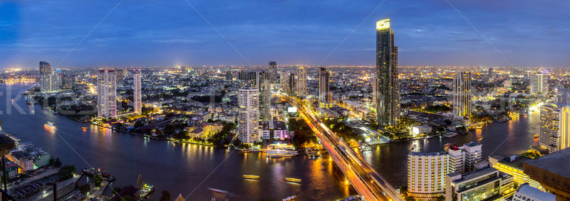 Thailand city skyline Twilight time Stock photo © hin255