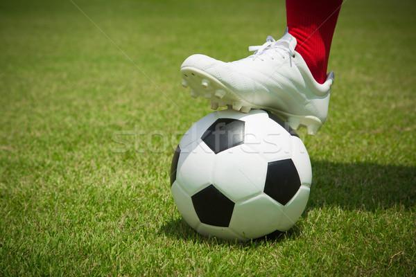 Jogador bola isolado branco futebol esportes Foto stock © hin255