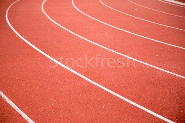 Corrida seguir vermelho cor futebol estádio Foto stock © hin255