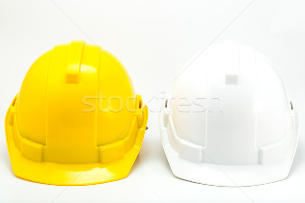 Yellow and White safety hat  Stock photo © hin255