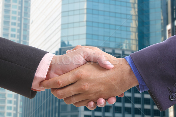 businessman shaking hands Stock photo © hin255