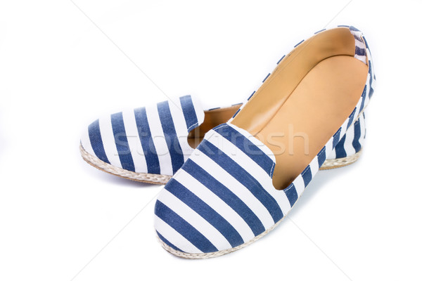 Blue and white color sandal shoes Stock photo © hin255