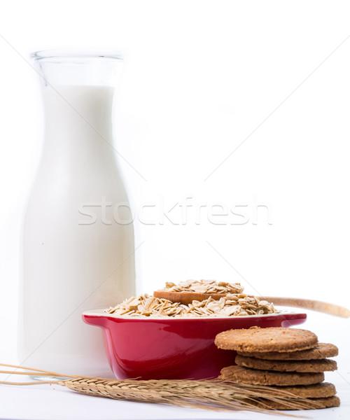 Macro Oat flakes pile Stock photo © hin255