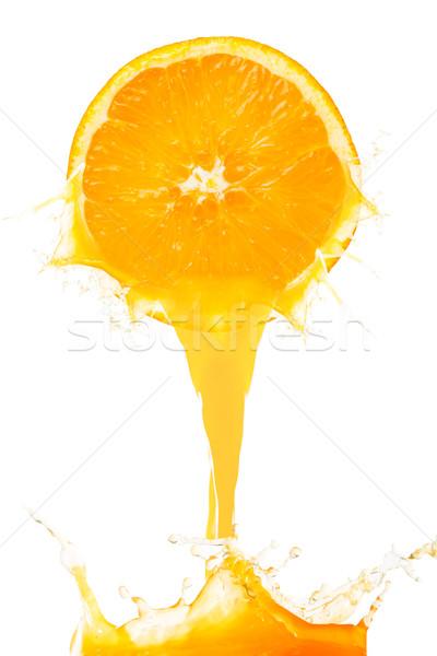 Orange juice splash prepare for breakfast  Stock photo © hin255