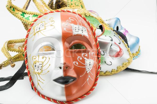 Kolorowy dramat maska odizolowany biały streszczenie Zdjęcia stock © hin255