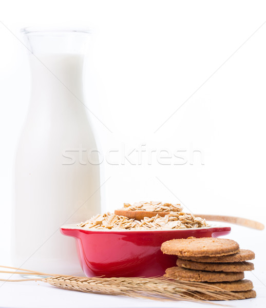 Macro Oat flakes pile Stock photo © hin255
