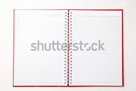Diary book for planner your life   Stock photo © hin255