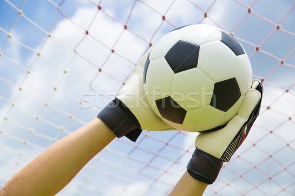 Portero utilizado manos pelota partido juego Foto stock © hin255