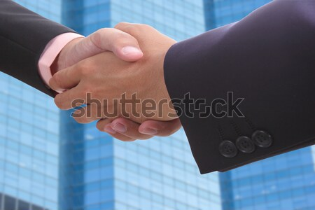 Businessman shake hands Stock photo © hin255