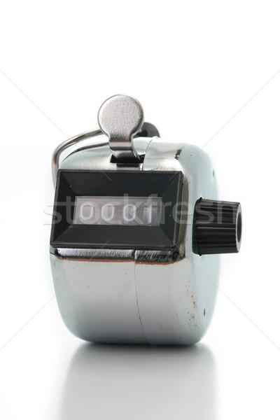Prata branco botão número exibir Foto stock © hin255