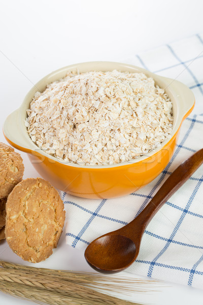 Oat flakes pile  Stock photo © hin255