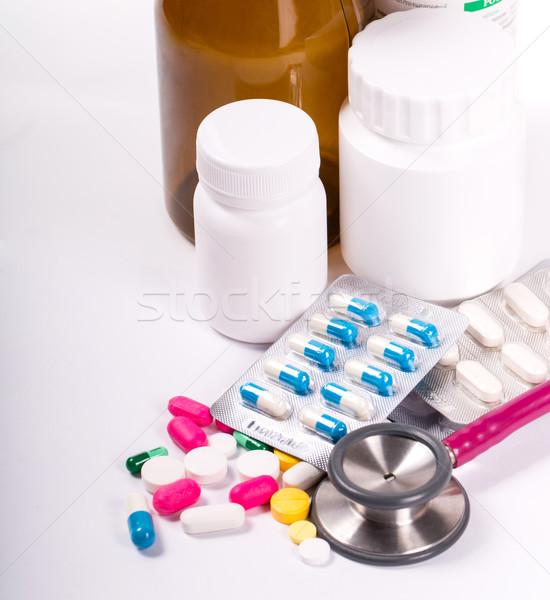 錠剤 治療 病気 白 フレーム ストックフォト © hin255