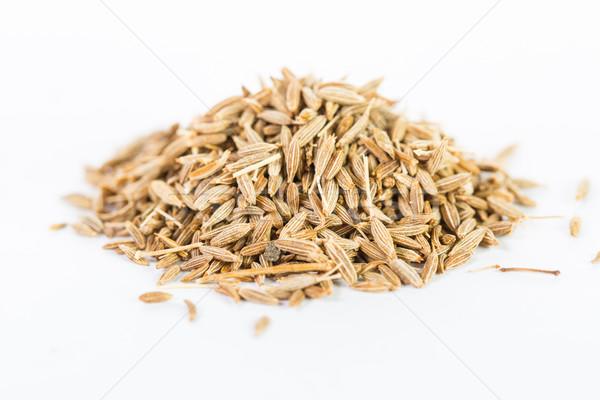 Stock photo: Pile of cumin seeds