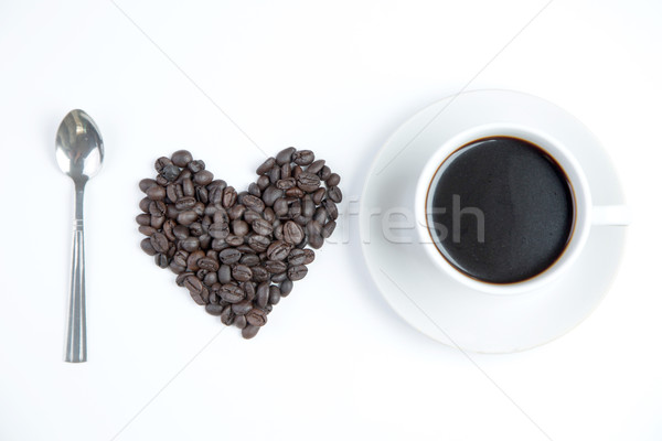 Heart of love with  cup coffee  Stock photo © hin255