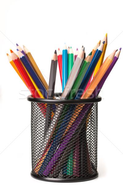 カラフル 鉛筆 孤立した 白 ツール 教える ストックフォト © hin255
