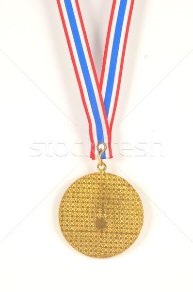 Aranyérem fehér háttér felirat kék arany Stock fotó © hinnamsaisuy