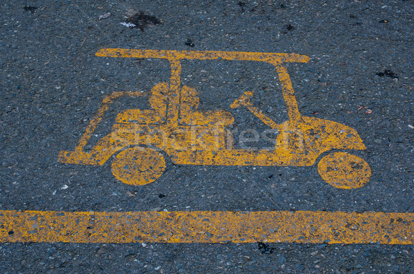 golf cart sign Stock photo © hinnamsaisuy