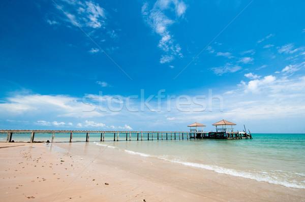 île eau nature mer Palm bleu Photo stock © hinnamsaisuy