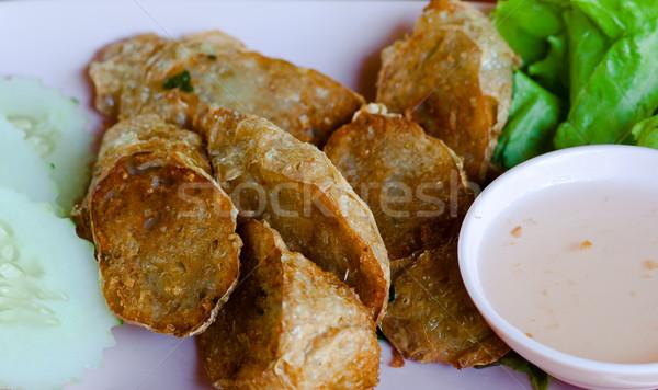 タイ 皿 レストラン ディナー 赤 ホット ストックフォト © hinnamsaisuy