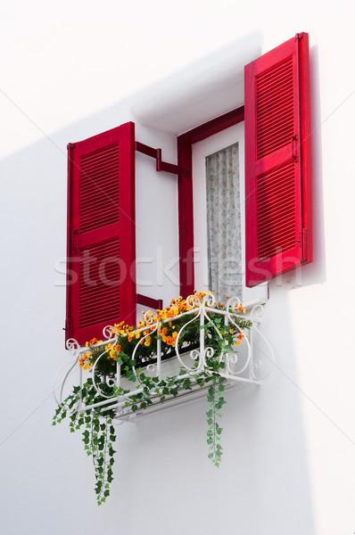 red vintage windows Stock photo © hinnamsaisuy
