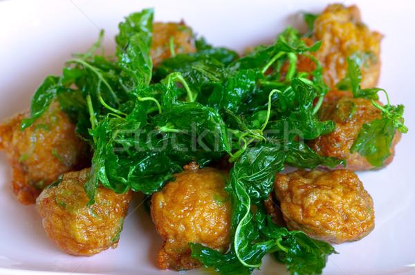 fried fish patty Stock photo © hinnamsaisuy