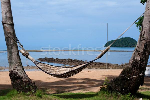 острове воды природы морем Palm синий Сток-фото © hinnamsaisuy