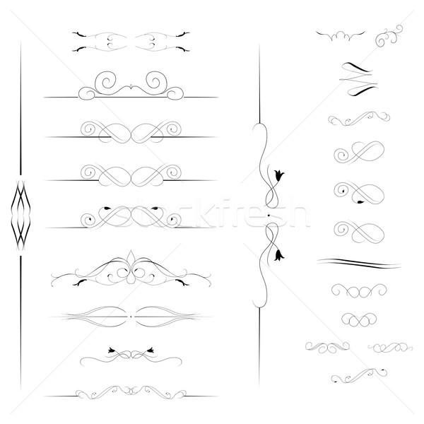 Testo set elementi frame bianco arte Foto d'archivio © Hipatia