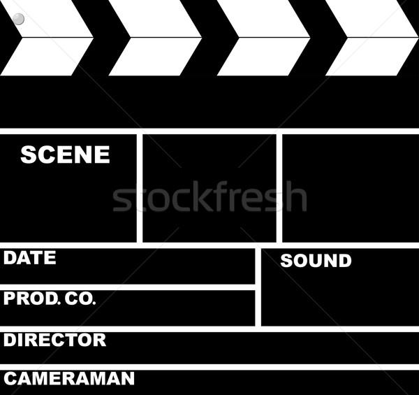 Bordo isolato nero retro film film Foto d'archivio © Hipatia
