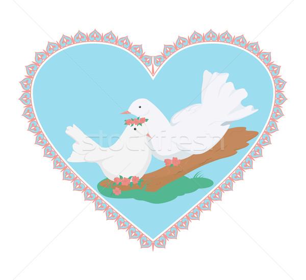 Coppia bianco amore Foto d'archivio © Hipatia