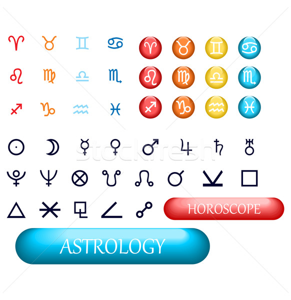 set of zodiac signs and planets Stock photo © Hipatia
